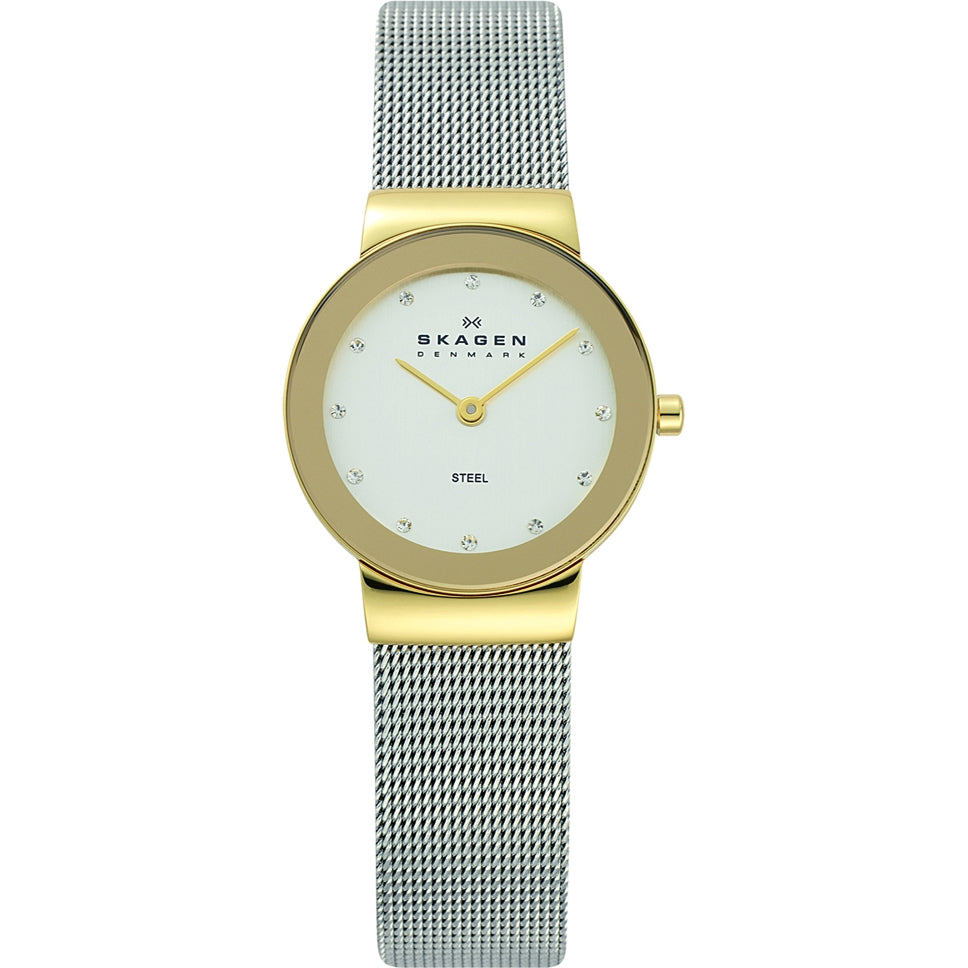 Skagen Ladies Klassik White Silver Watch - 358SGSCD