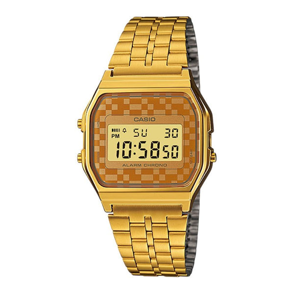 Casio Unisex Gold Chronograph Watch - A159WGEA-9A