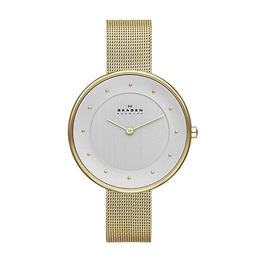 Skagen Ladies Gold Mesh Gitte Watch - SKW2141