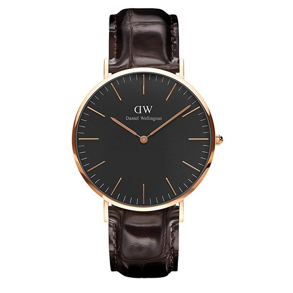 Daniel Wellington Unisex Black Classic York Watch - DW00100128