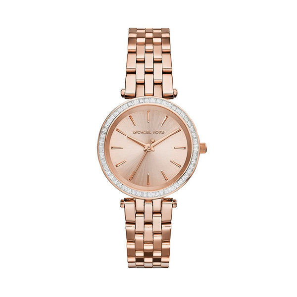 Michael Kors Ladies Rose Gold Mini Darci Watch - MK3366