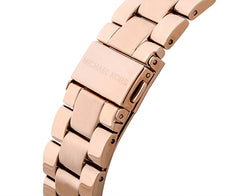 Michael Kors Ladies Rose Gold Runway Watch - MK3197