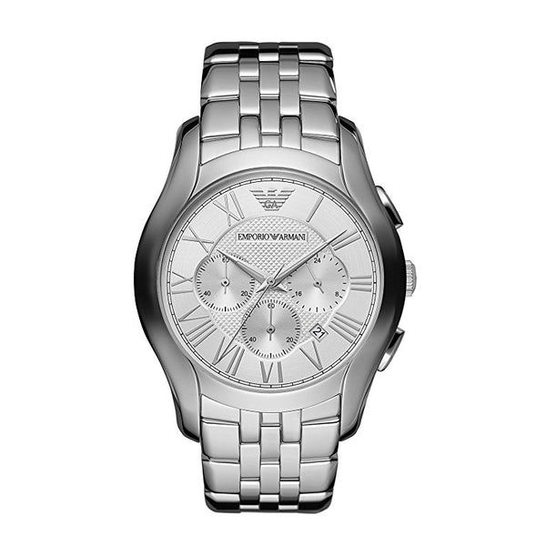 Emporio Armani Mens Silver Chronograph Watch - AR1702