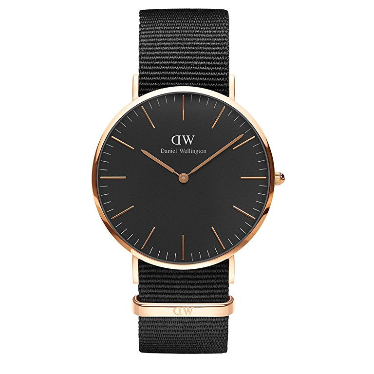 Daniel Wellington Unisex Black Classic Cornwall Watch - DW00100148