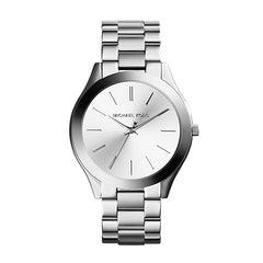 Michael Kors Ladies Silver Slim Runway Watch - MK3178