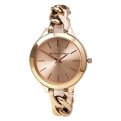 Michael Kors Ladies Rose Gold Runway Watch - MK3223