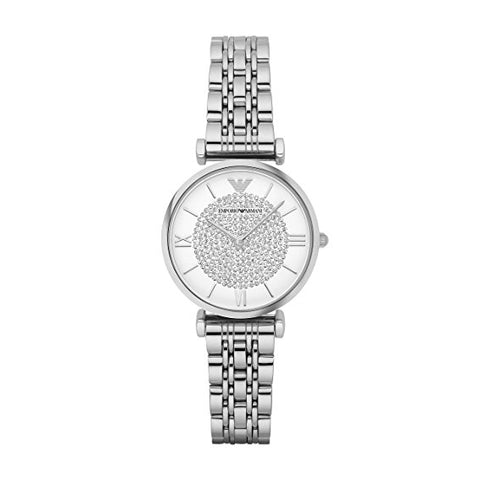 Emporio Armani Ladies Silver Retro Watch - AR1925