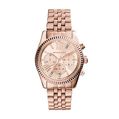 Michael Kors Ladies Rose Gold Stainless Steel Lexington Watch - MK5569