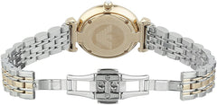 Emporio Armani Ladies Rose Gold x White Classic Watch - AR1683