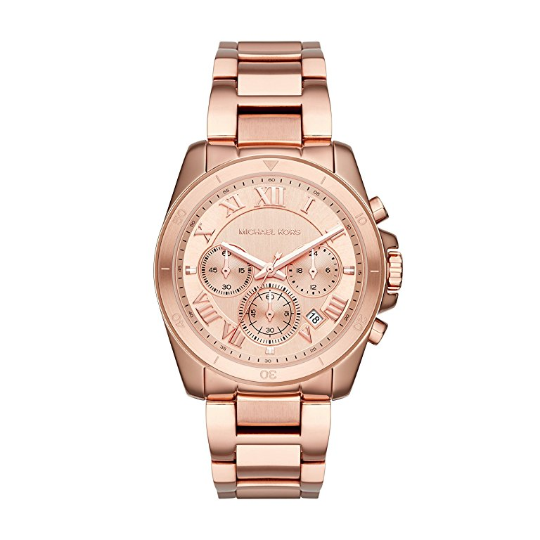 Michael Kors Ladies Rose Gold Brecken Watch - MK6367