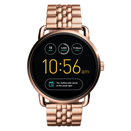 Fossil Q Ladies Rose Gold Stainless Steel Smartwatch - FTW2112