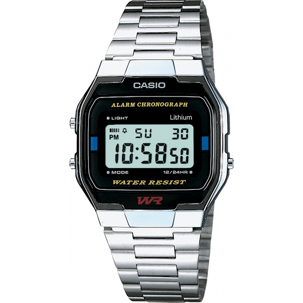 Casio Silver Classic Alarm Chronograph Watch - A-158WA-1DF