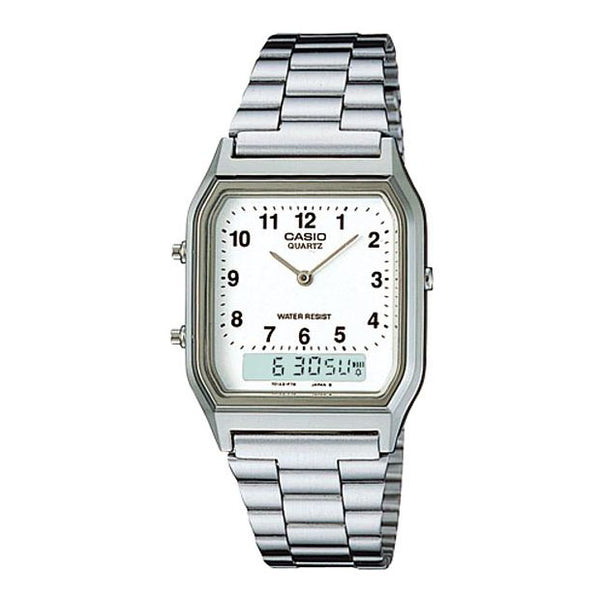 Casio Mens Silver Digital & Analogue Watch - AQ-230A-7BMQ