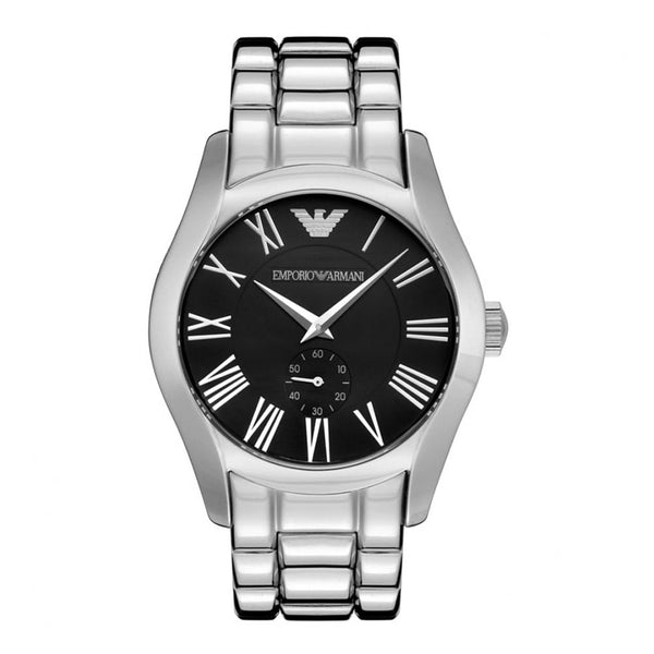 Emporio Armani Mens Silver Black Classic Watch - AR0680