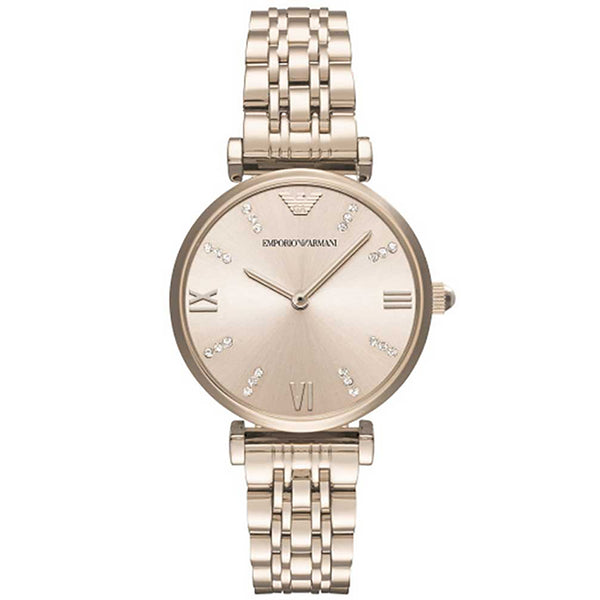 Emporio Armani Ladies Rose Gold Watch - AR11059
