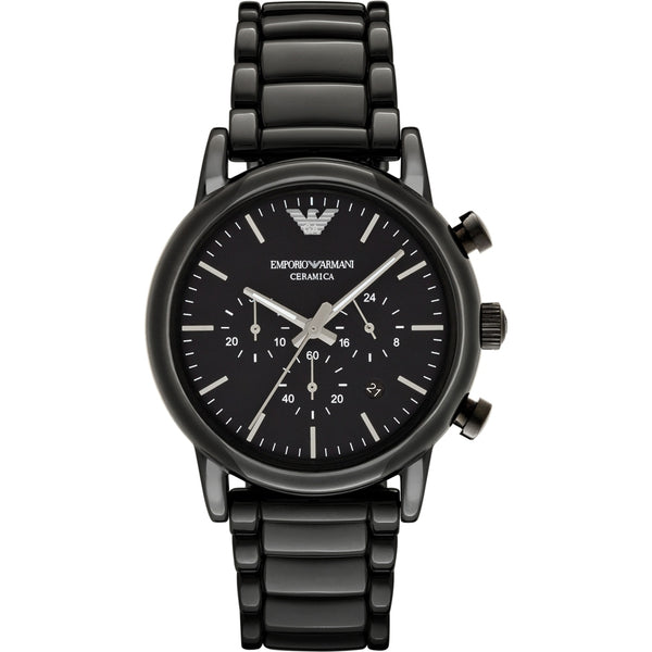 Emporio Armani Mens Black Ceramic Chronograph Watch - AR1507