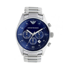 Emporio Armani Mens Blue Chronograph Watch - AR5860