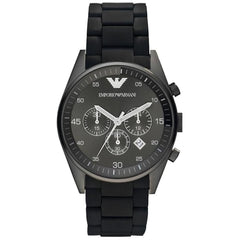 Emporio Armani Mens Black Sport Chronograph Watch - AR5889