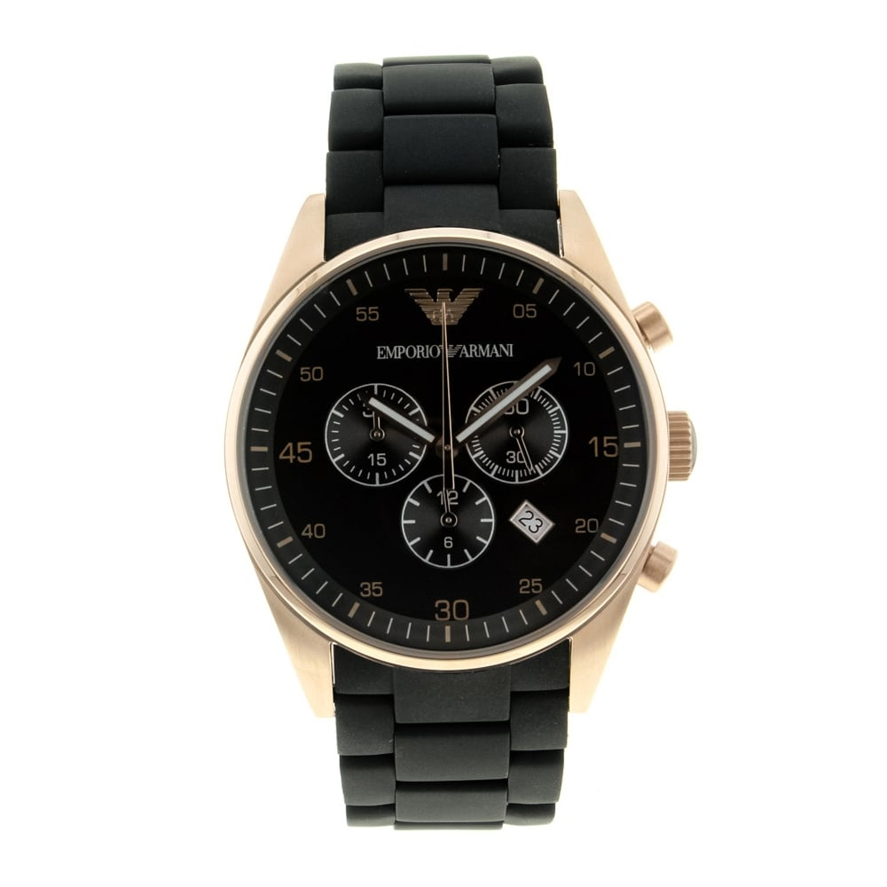 947396afe3d0 Emporio Armani Mens Black Stainless Steel Watch - AR5905 ...