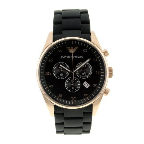 Emporio Armani Mens Black Stainless Steel Watch - AR5905
