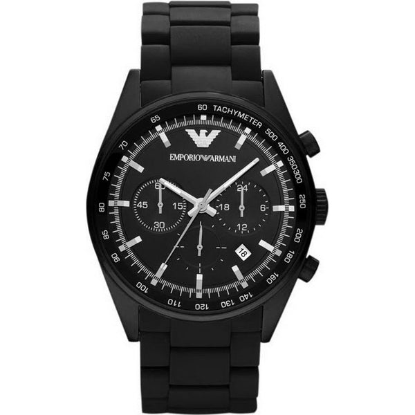 Emporio Armani Mens Black Stainless Steel Watch - AR5981