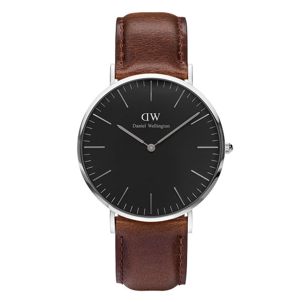 Daniel Wellington Unisex Black Classic Bristol 40mm Watch - DW00100131