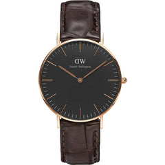Daniel Wellington Unisex Black Classic York Watch - DW00100140