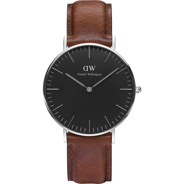 Daniel Wellington Ladies Silver St. Mawes Leather Watch - DW00100142