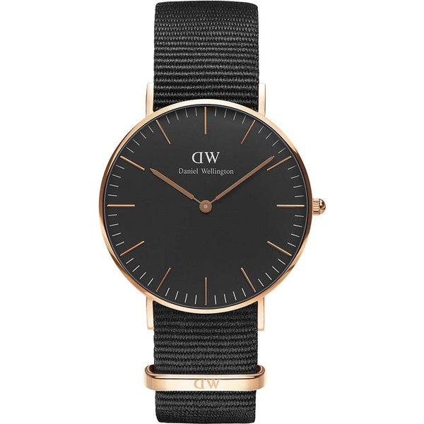Daniel Wellington Unisex Black 36mm Cornwall Watch - DW00100150