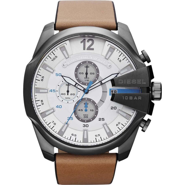 Diesel Mens Brown Chronograph Mega Chief Watch - DZ4280