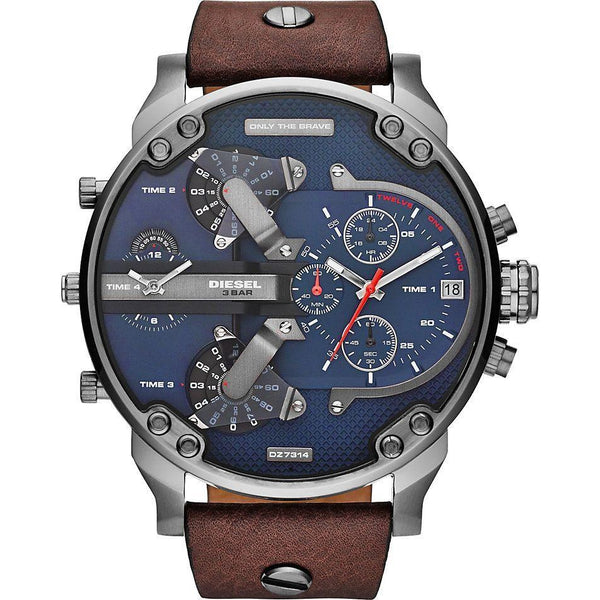 Diesel Mens Blue Brown Mr Daddy 2.0 Watch - DZ7314