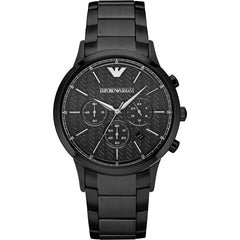 Emporio Armani Mens Black Renato Watch - AR2485