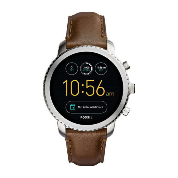 Fossil Q Mens Brown Leather Generation 3 Smartwatch - FTW4003
