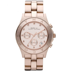 Marc Jacobs Ladies Rose Gold Large Blade Chrono Watch - MBM3102