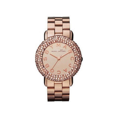 Marc Jacobs Ladies Rose Gold Pave Crystal Marci Watch - MBM3192