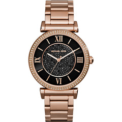 Michael Kors Ladies Rose Gold Catlin  Watch - MK3356