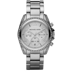 Michael Kors Ladies Silver Chronograph Blair Watch - MK5165