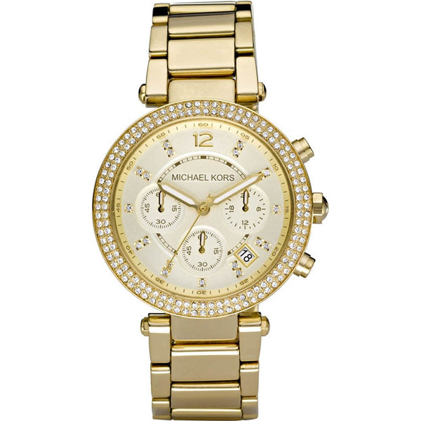 Michael Kors Ladies Gold Parker Chronograph Watch - MK5632