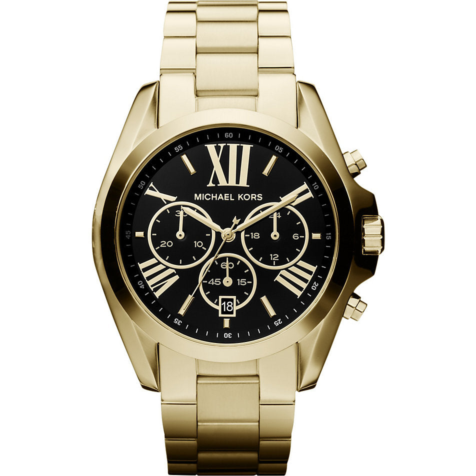 Michael Kors Ladies Gold Plated Bradshaw Watch - MK5739