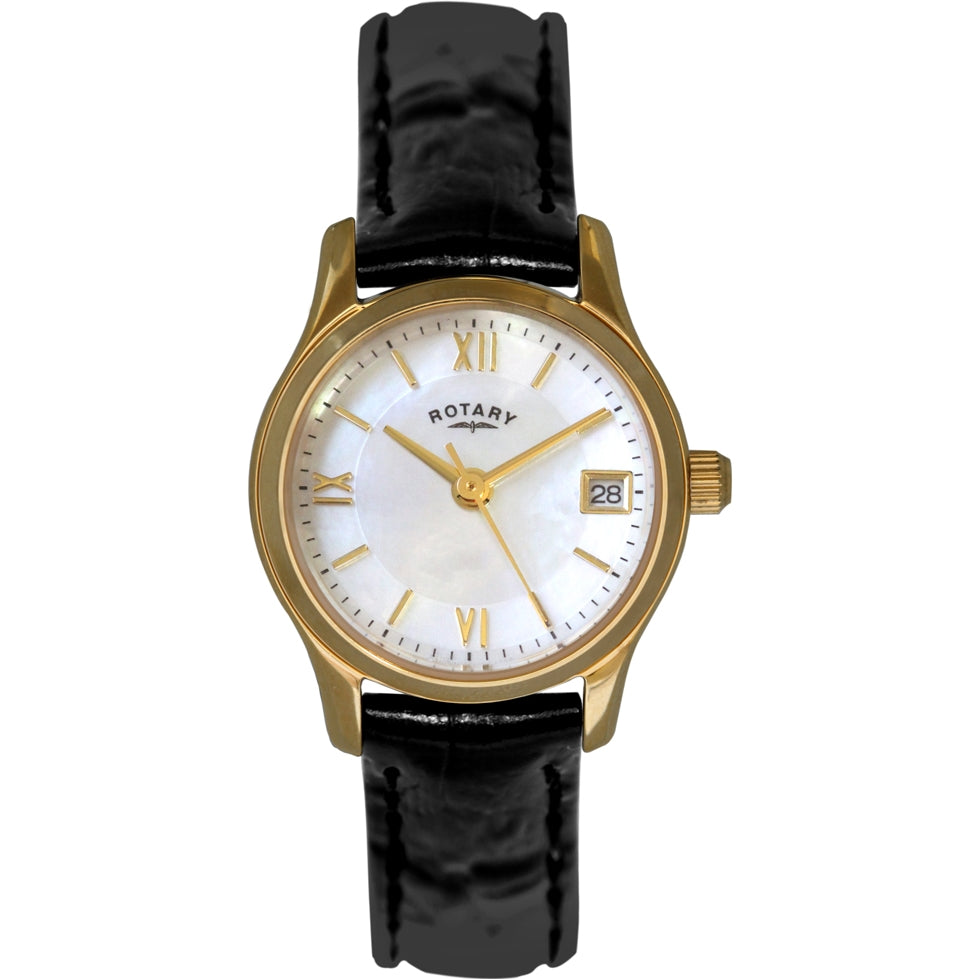 Rotary Ladies Gold Plated Eco Dress Watch - LS02368-41