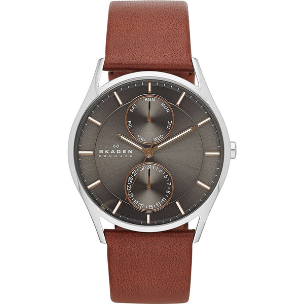Skagen Mens Brown Leather Holst Watch - SKW6086