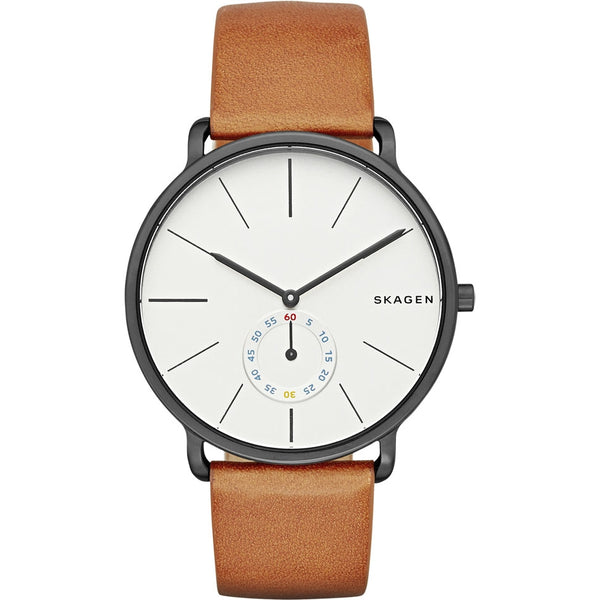 Skagen Mens Hagen Tan Leather Watch - SKW6216