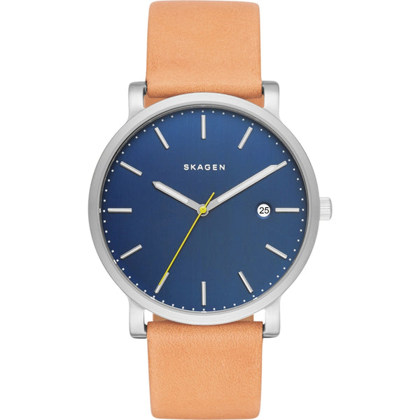 Skagen Mens Light Brown  Leather Strap Hagen Watch - SKW6279