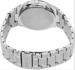 Seiko Mens Silver Solar Powered Stainless Steel Watch - SNE429P9