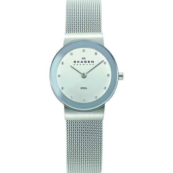 Skagen Ladies Chrome Silver Mesh Klassik Watch - 358SSSD