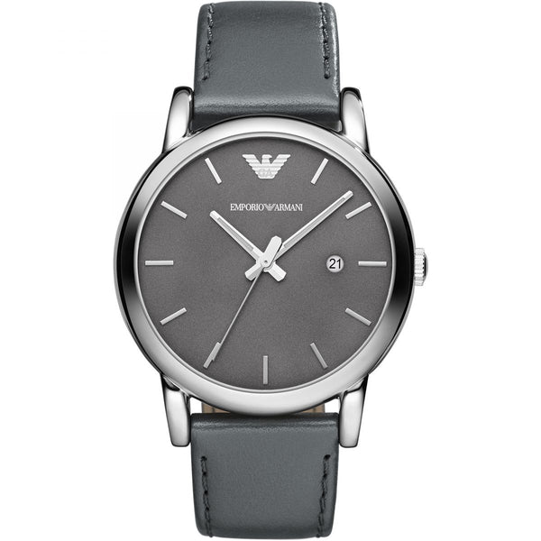 Emporio Armani Mens Navy Leather Luigi Watch - AR1730