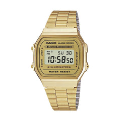 Casio Unisex Gold Digital Watch - A168WG-9EF