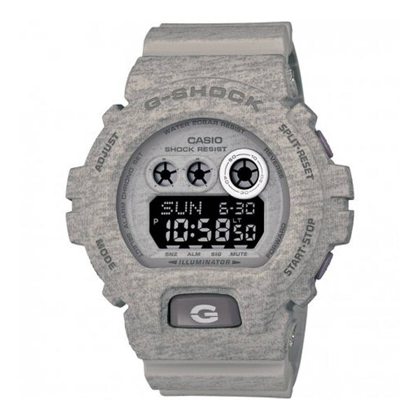 Casio Mens Grey Heathered Print G-Shock Watch - GD-X6900HT-8ER