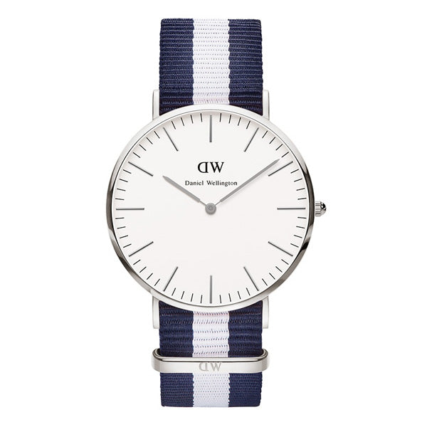 Daniel Wellington Mens Silver 40mm Glasgow Watch - DW00100018 (DW0204)
