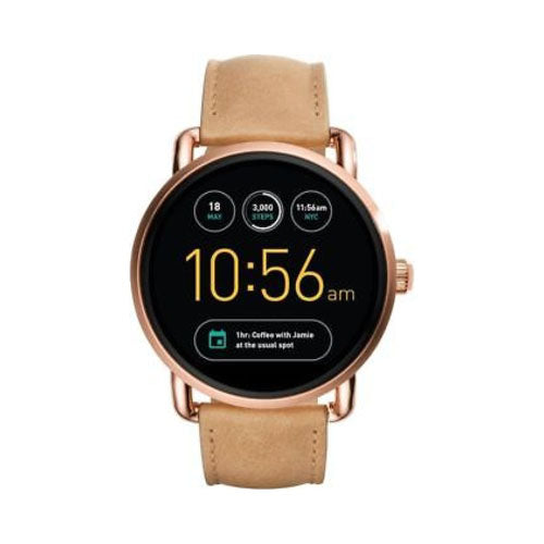 Fossil Q Ladies Light Brown Leather Smartwatch - FTW2102